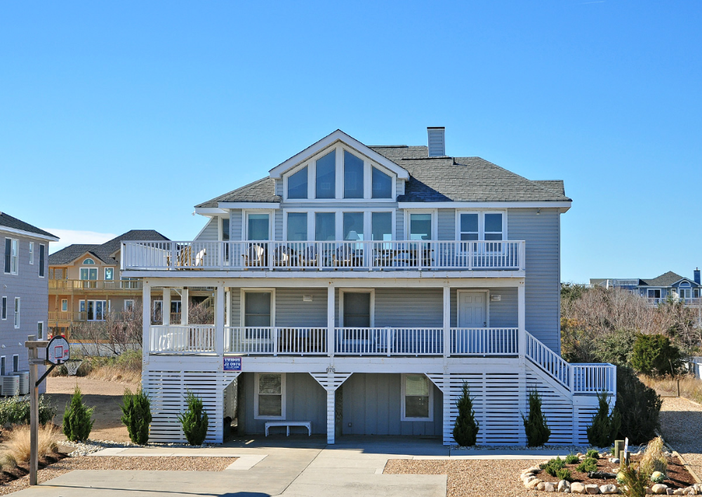Beach Melody Oceanfront Vacation Rentals Outer Banks Vacation Beach House Exterior