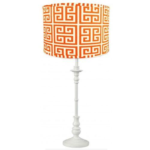 Hyde Park White Spindle Lamp From Poshtots Orange Pendants Kids Room Lighting Orange Lamps