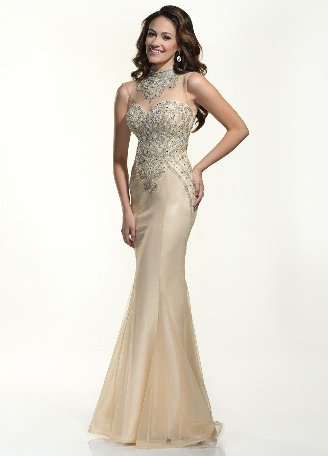 DE 35790 Nude/ Gold size 2   Xcite/ Xtreme/ Disney Enchanted gowns ...