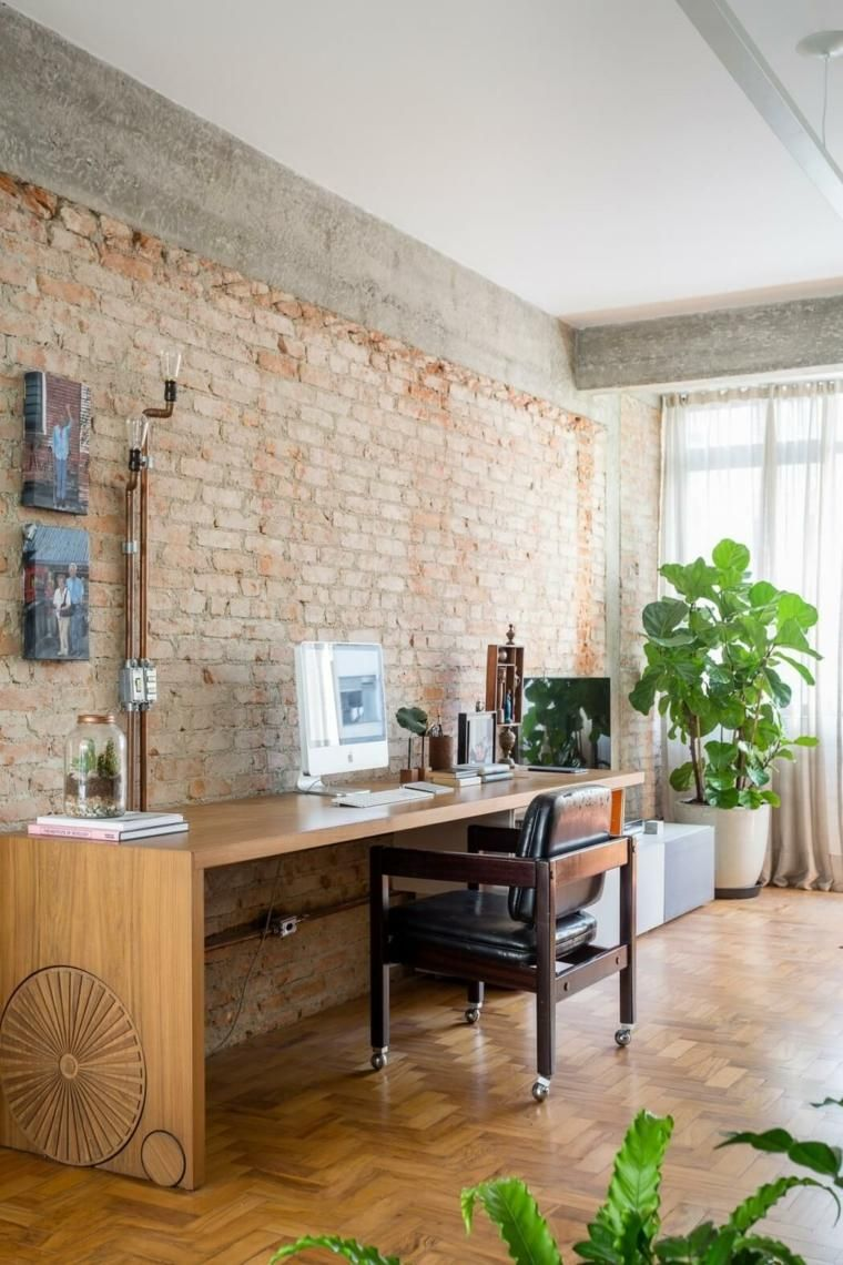 #Interior Design Haus 2018 Ziegel Und Beton Ausgesetzt   Die Wohnung Joao  De RSRG #