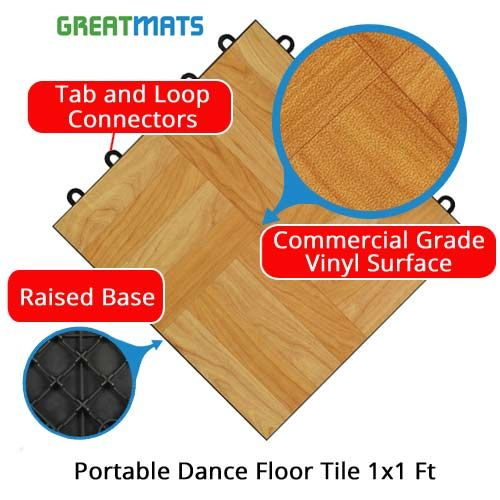 Portable Dance Floor Tile Is Easy To Install And Take Apart These