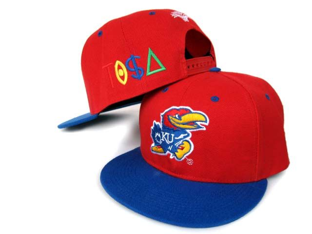 NCAA Kansas Jayhawks Tisa Hat Caps Red Blue