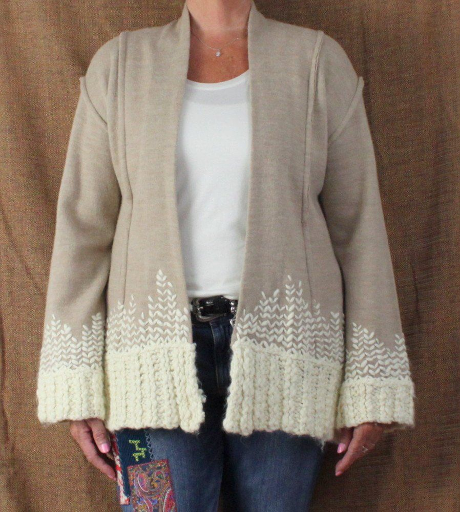 Anthropologie Tabitha Rising Snowdrops Cardigan Sweater XL size ...
