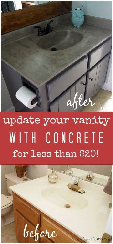 Photo of DIY Vanity Makeover using Concrete Overlay!