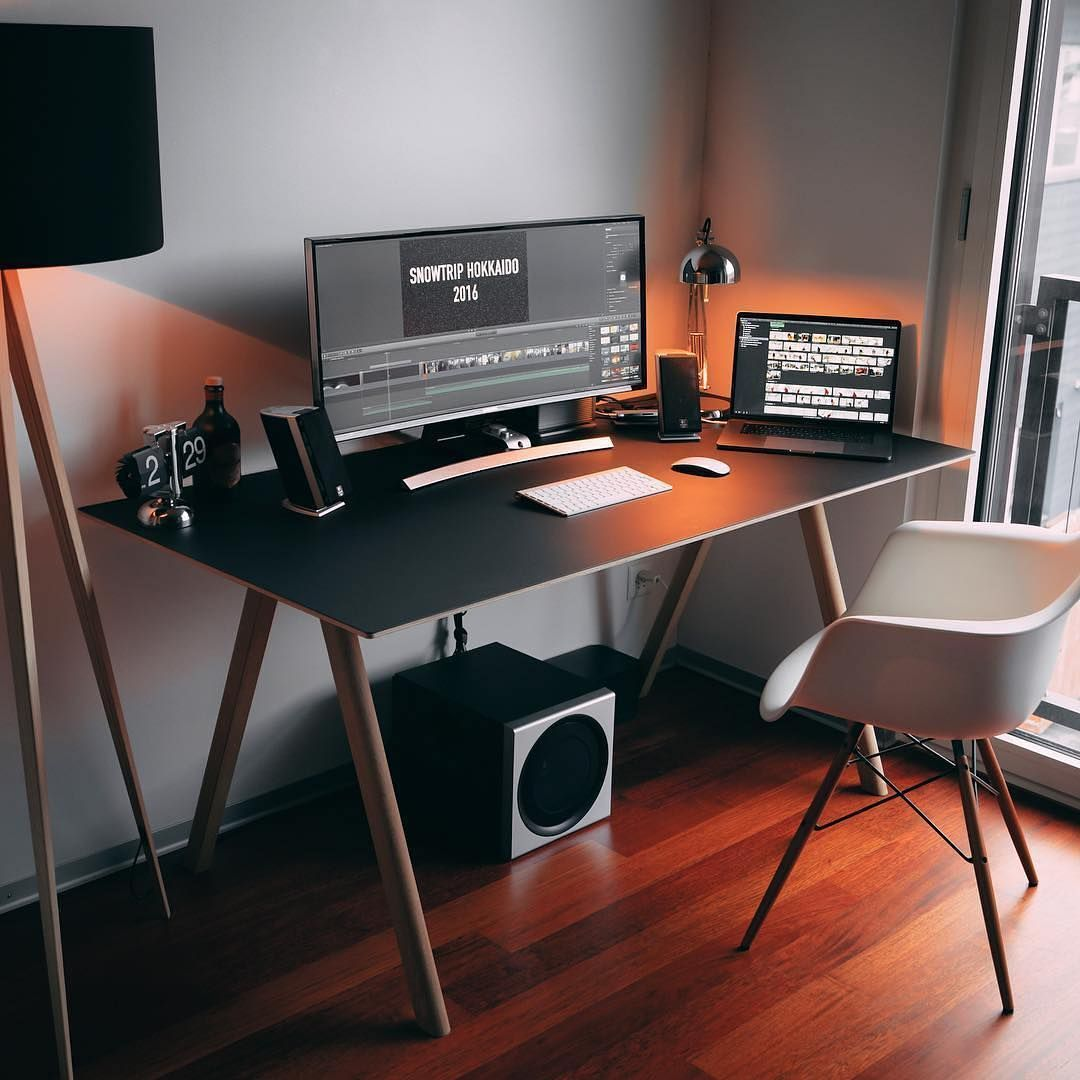 20 Diy Desks That Really Work For Your Home Office Tags Computer Desk Ideas For Bedroom Living Room D Home Office Design Home Office Setup Workspace Design