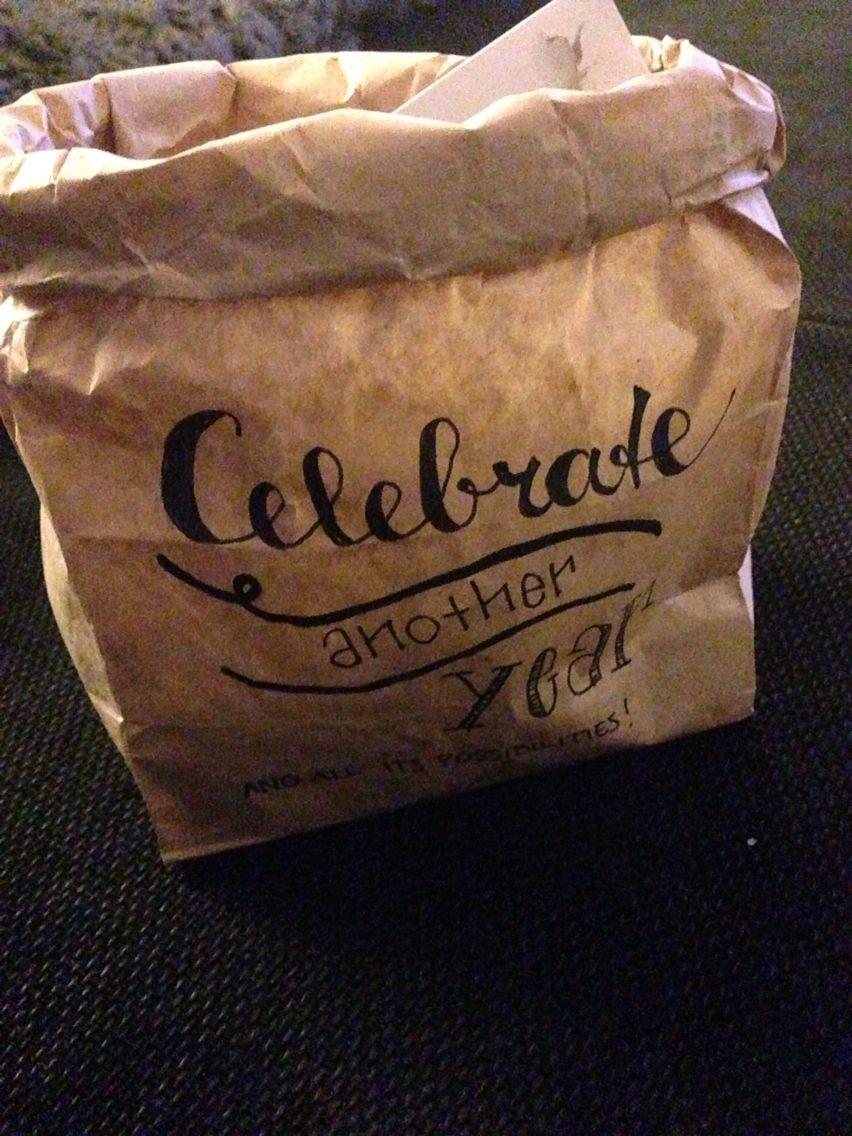 #handlettering #bag #present