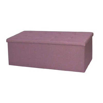 Ebern Designs Harlingen Storage Ottoman Upholstery Colour Orchid