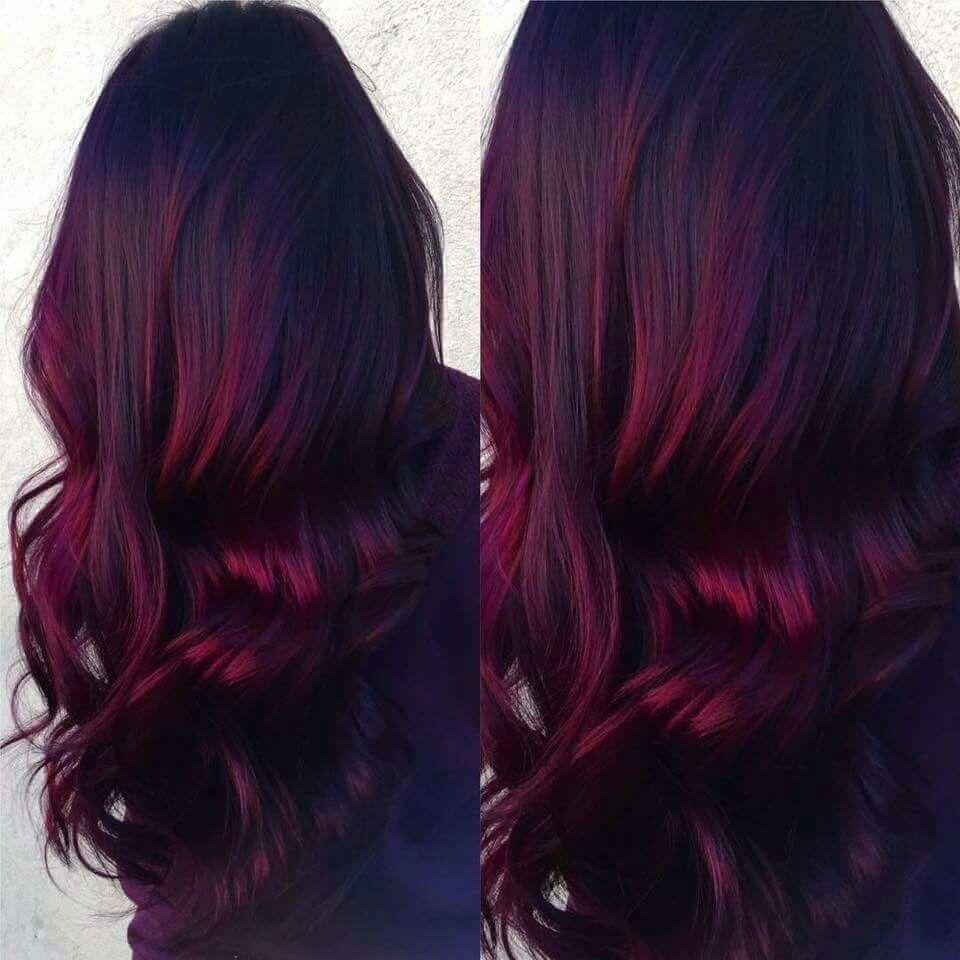Beautiful Hair Transformation Burgundy Hair Hair Styles Balayage Hair