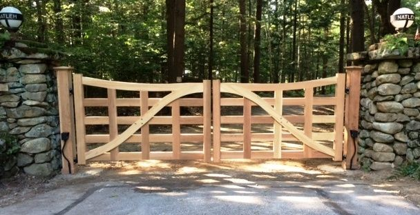 Unique Wooden Driveway Gate Design Gates Pinterest