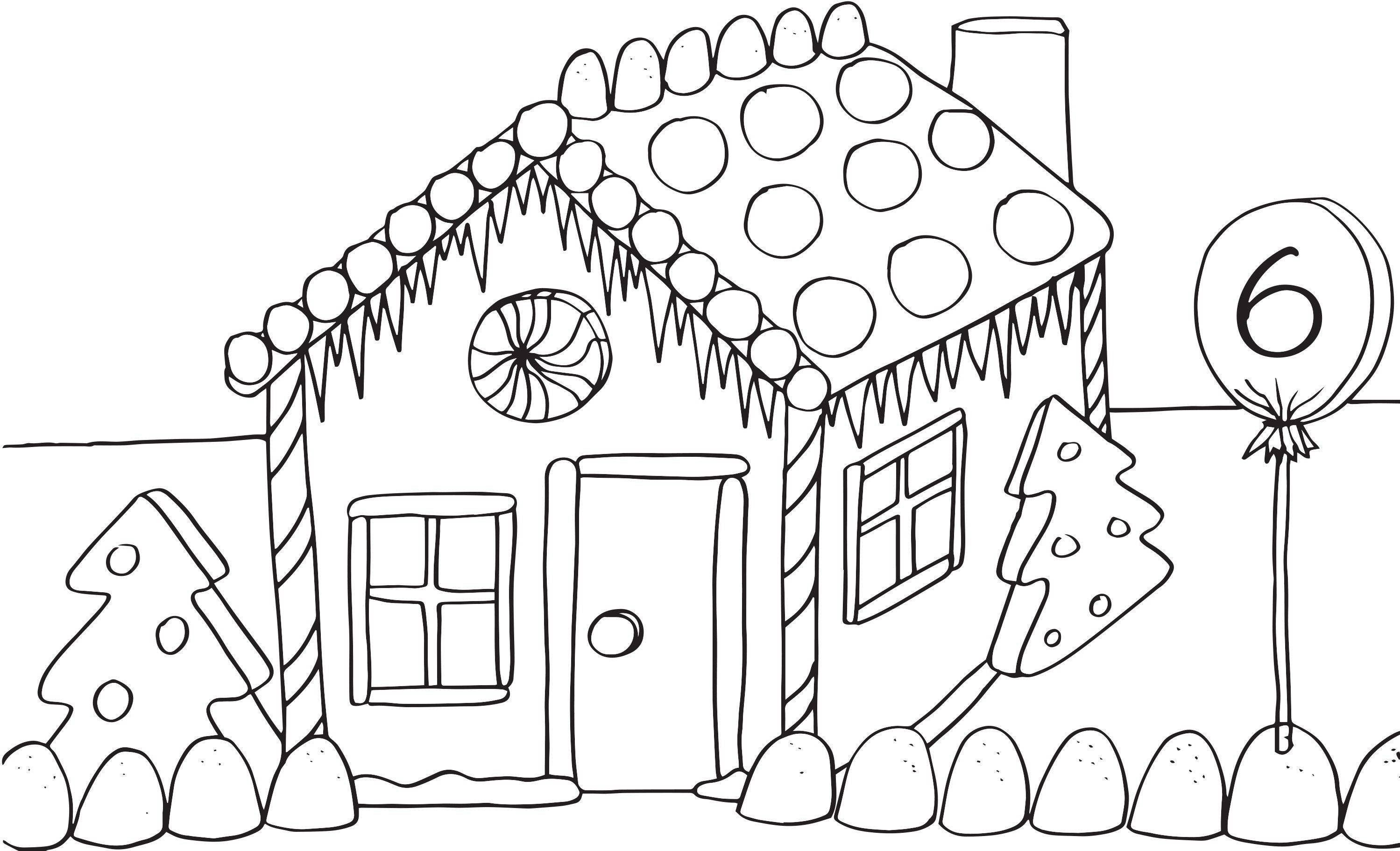 - Gingerbread House Coloring Page Lovely Gingerbread House Coloring