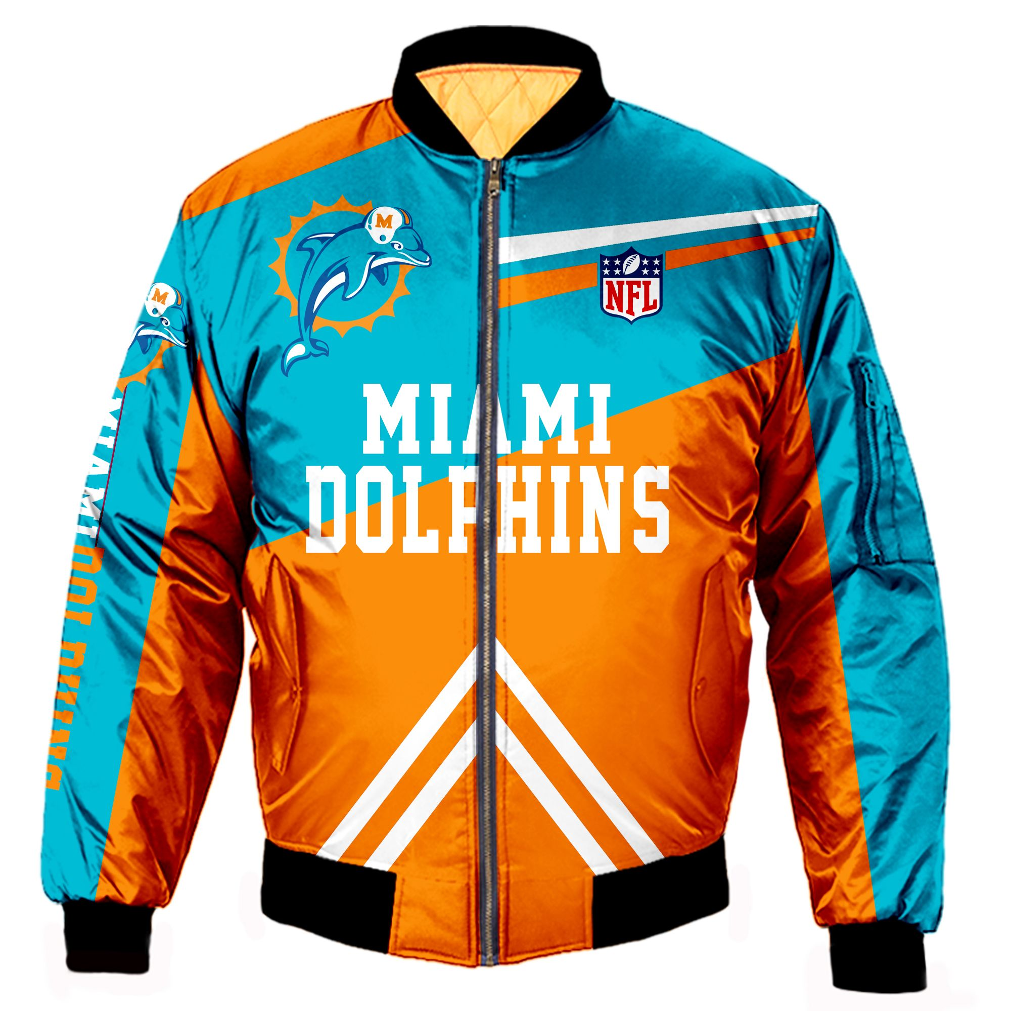 Miami Dolphins Bomber Jacket Men Women CottonPadded Air