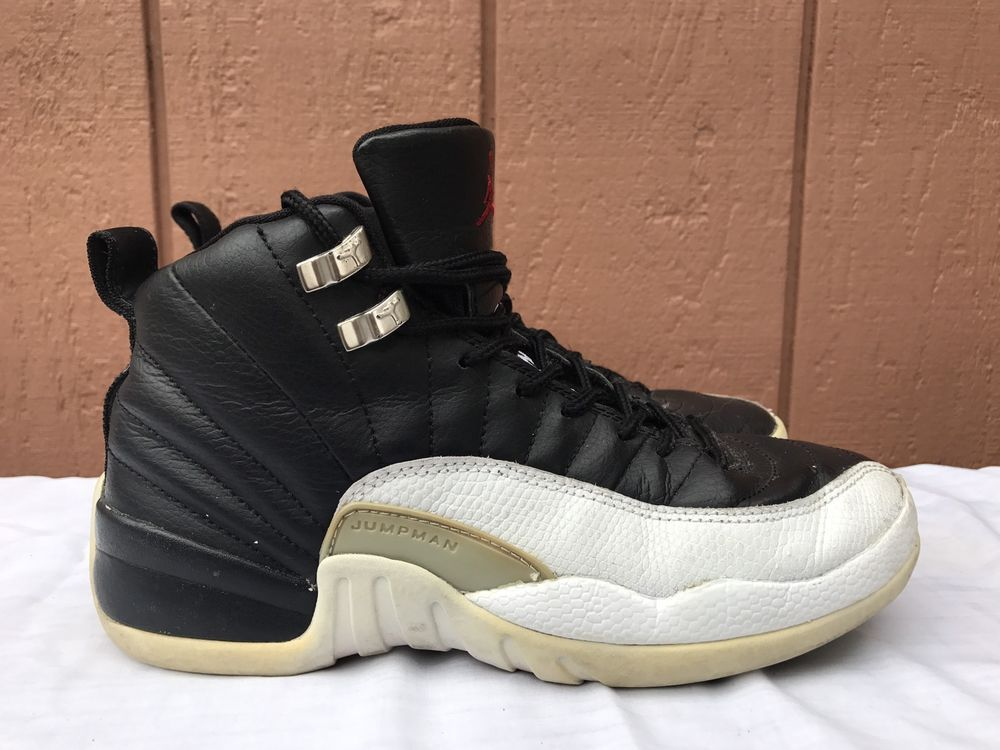 3746e07cb679e9 eBay  Sponsored EUC Nike Air Jordan 12 Retro GS 153265 016 100%AUTHENTIC US  5.5Y EUR 38 Playoff