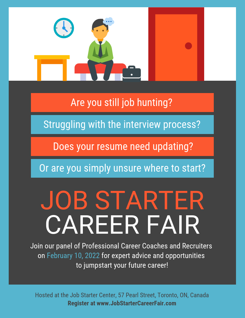 job fair hiring flyer promote your upcoming professional event