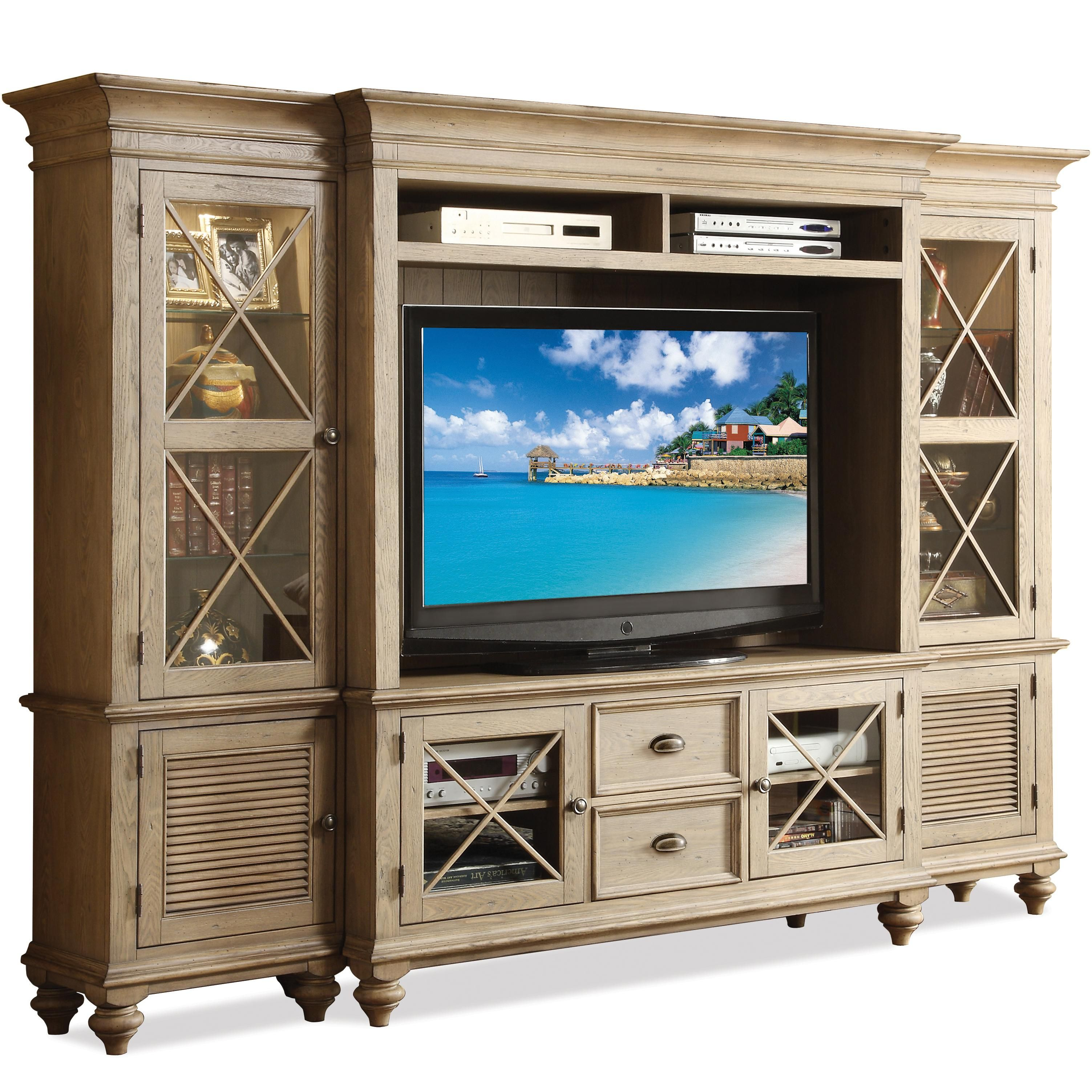Coventry Entertainment Wall System With Framed Glass Doors By Riverside  Furniture   Wolf Furniture   Wall. Tv StandsContemporary Entertainment ...