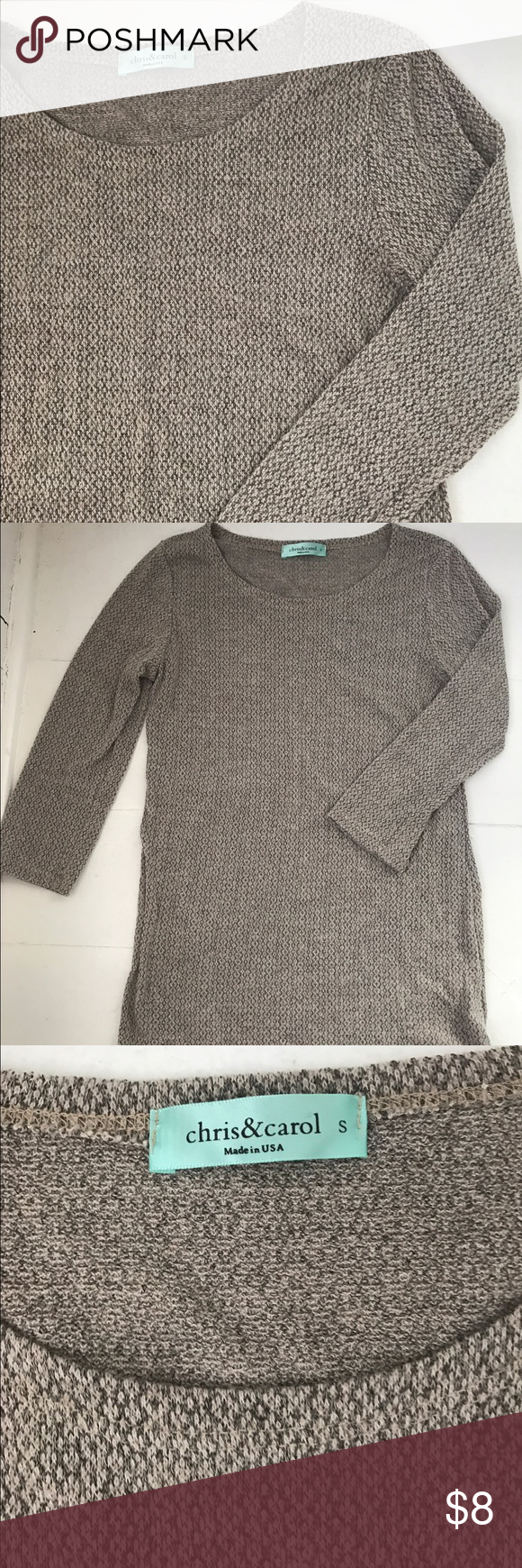 Tan Tunic Sweater | Size S | D, Tops and Sweaters
