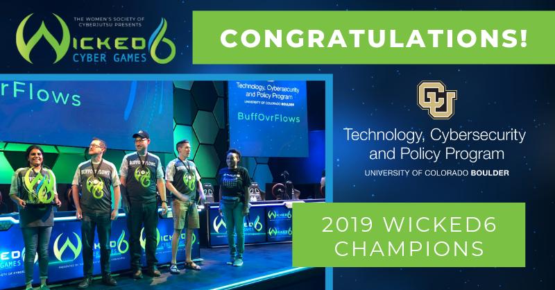 2019 Wicked6 Champions University Of Colorado University Of Colorado Boulder Cyber