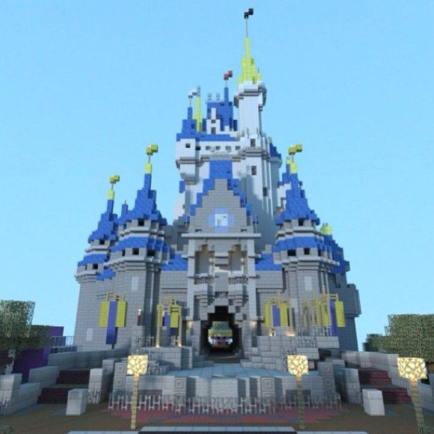 Disney minecraft castle minecraft pinterest disney minecraft disney minecraft castle freerunsca Image collections