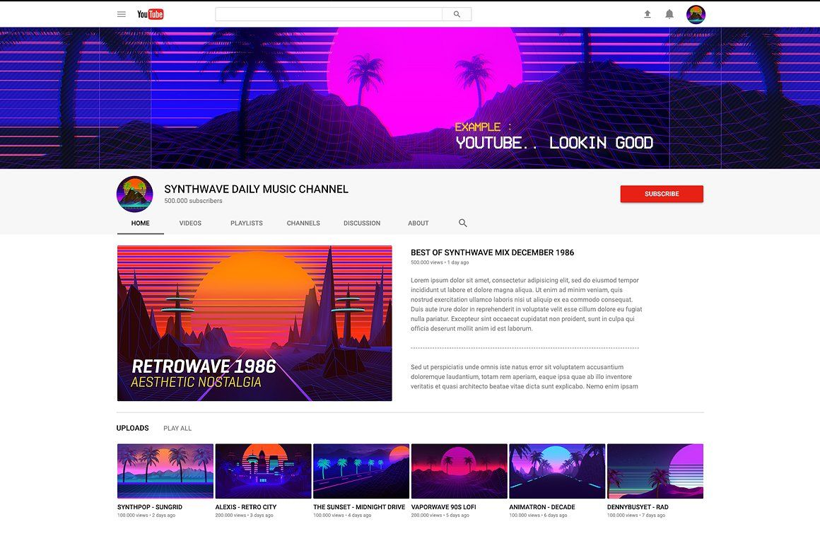 Synthwave Retrowave Background Pack #Films#Video#Games#Culture