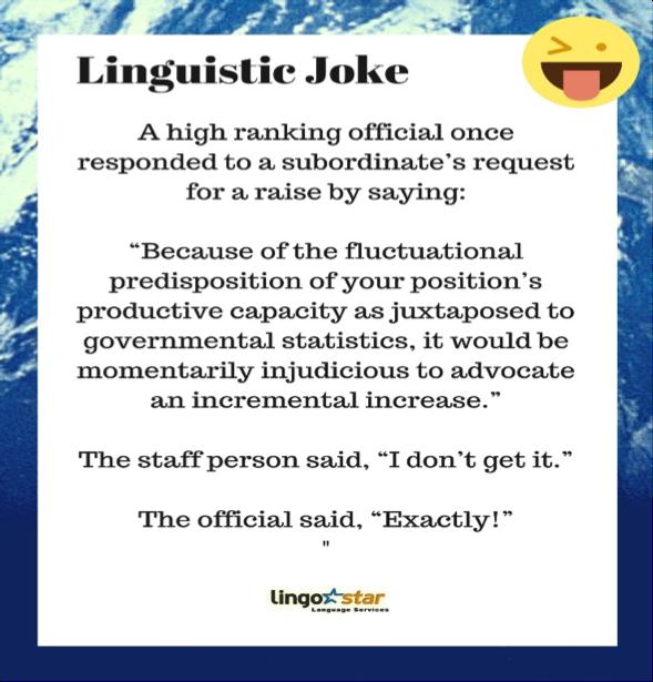 Linguistic Joke Of The Day Linguisticjokes Translation Lingostar Languages Linguistics Language Jokes