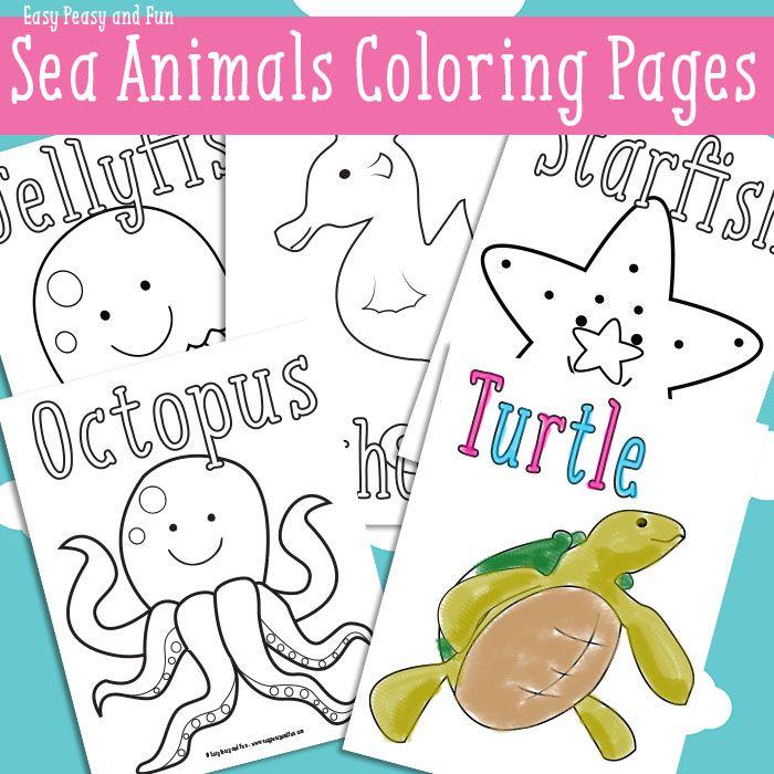 Animal Coloring Sheets Preschool : Ocean and sea animals coloring pages {free printable easy peasy