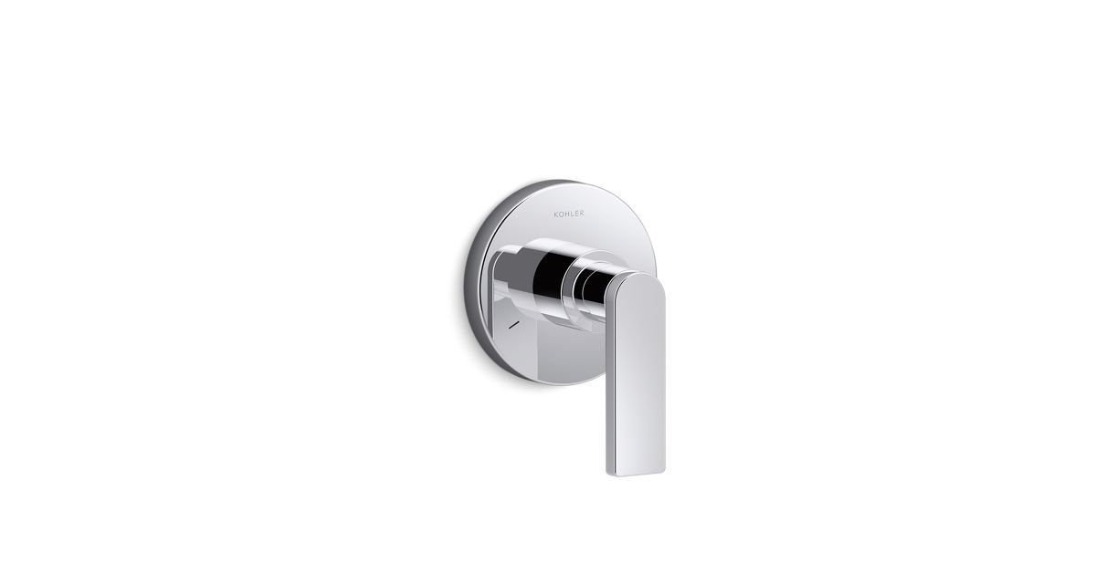 Part of the minimalist Composed collection, the K-T73140-4 shower valve trim includes a faceplate with single lever handle. Pair this trim with a MasterShower transfer or diverter valve.