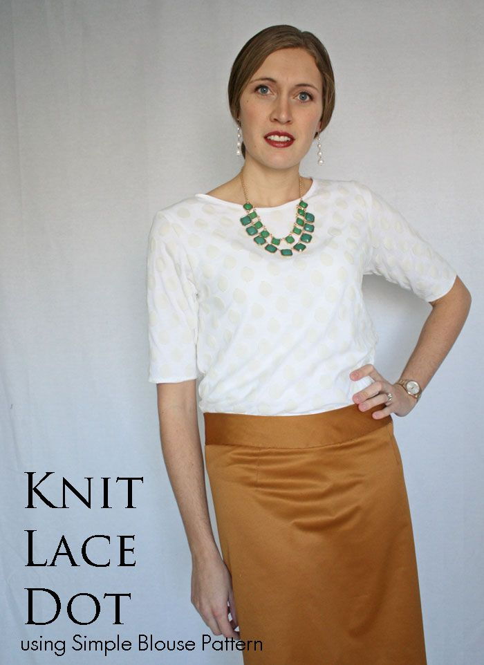 Simple Blouse Variation Knit Lace Dotis Is A Double Layer Tee