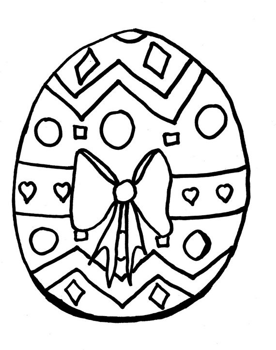 Easter Holiday Eggs Coloring Pages For Kids | Easter bunny ...