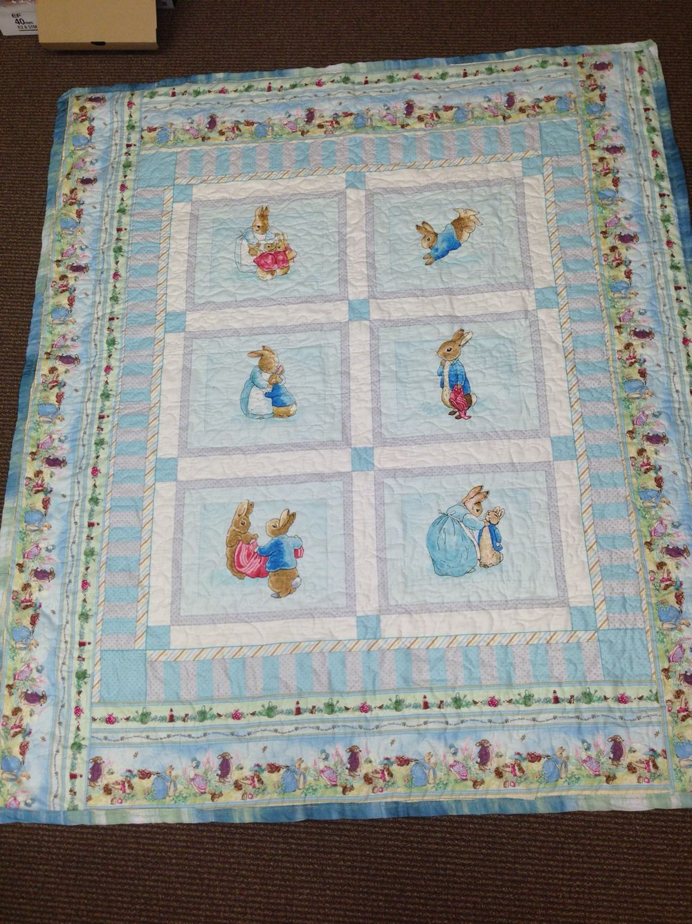 Peter Rabbit baby quilt with minky backing   Quilts   Pinterest ... : peter rabbit baby quilt - Adamdwight.com