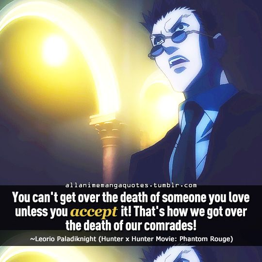 The source of Anime quotes & Manga quotes : Photo   Hunter ...