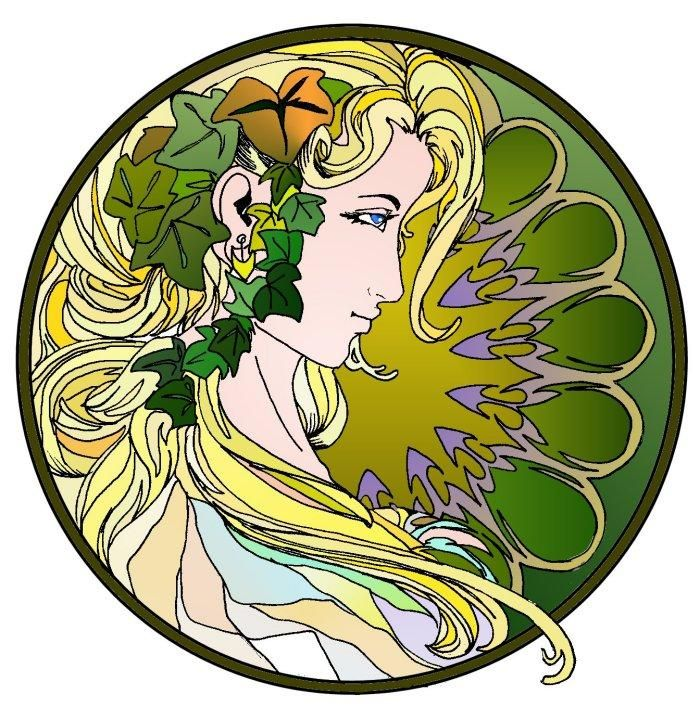 """Art Nouveau Wood Elf"""