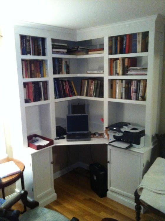 Built In Corner Office Desk Decorating Inspiration 1679