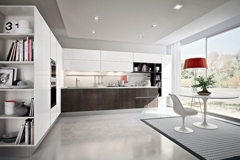 Lacquered wooden kitchen dark lady by pedini keukentrends