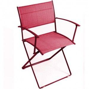 Plein Air By Fermob Bridge Rouge Piment Folding Armchair Fermob Iconic Chairs