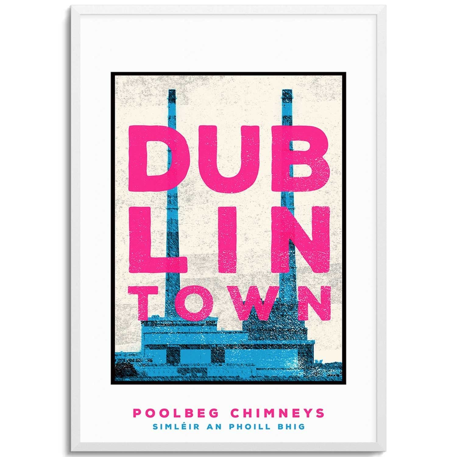 One Of The First Things You See When Flying Into Dublin Are The Poolbeg Chimneys Possibly The Most Well Known Lan Original Screen Prints Landmark Print Print