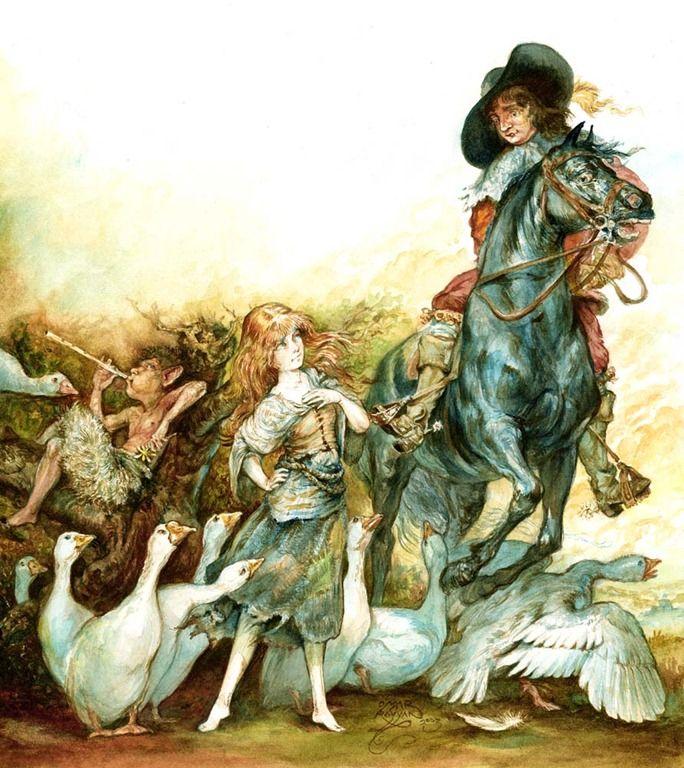 Goose girl omar rayyan illustrations illustration - Dessiner une oie ...