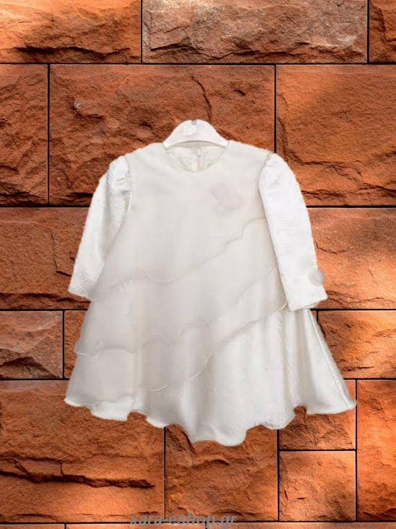 0bf9d8dadc8 Φόρεμα Βάπτισης Χειμερινό A2021   Βαπτιστικά Φορεματάκια Χειμερινά ...