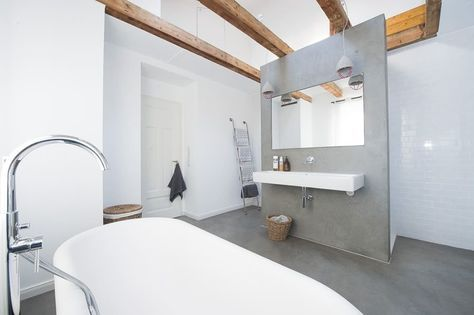 Fugenloses Bad ohne Fliesen als Badgestaltung in Wiesbaden - badezimmer design badgestaltung