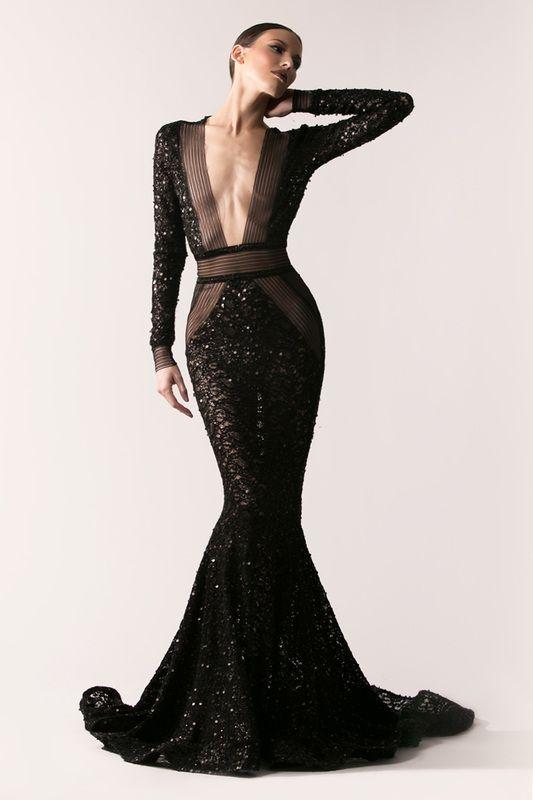 21 magnifiques robes soirée noires tendance 2018 #gorgeousgowns
