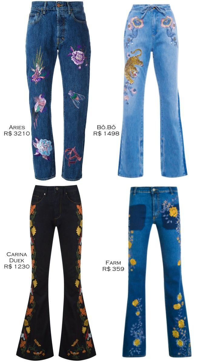 6daecc8bf Onde Comprar - Calça Jeans Bordada!