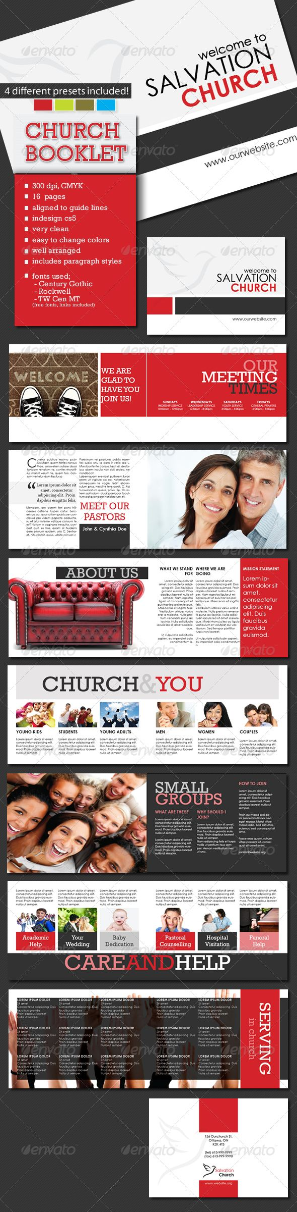 A5 Church Booklet Template - 16 Pages | Booklet template ...