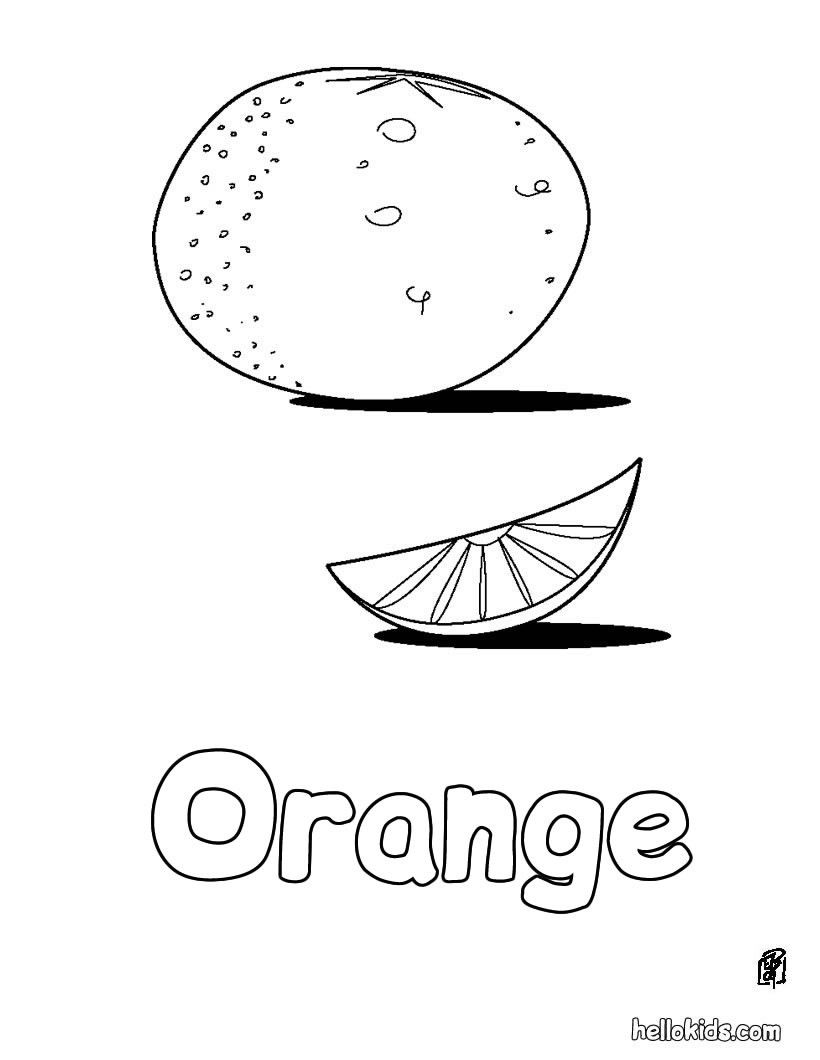 Let Your Imagination Soar And Color This Orange Coloring Page With