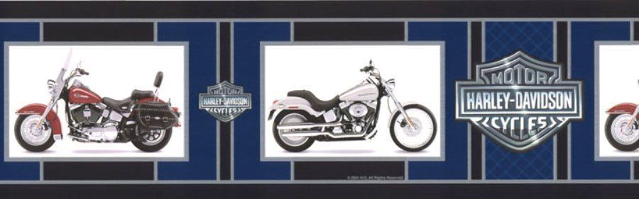 1 Roll 15 Ft Harley Davidson Motorcycle Logo Wallpaper Border