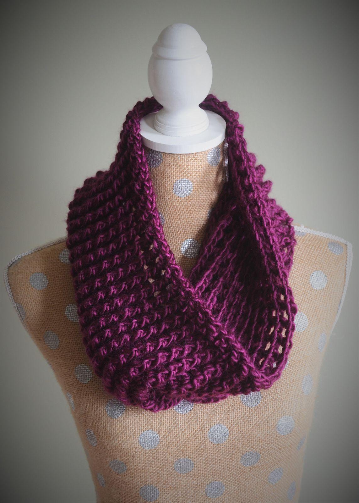 Ribbed Cowl Crochet Scarf Crochet Pattern One Skein Crochet