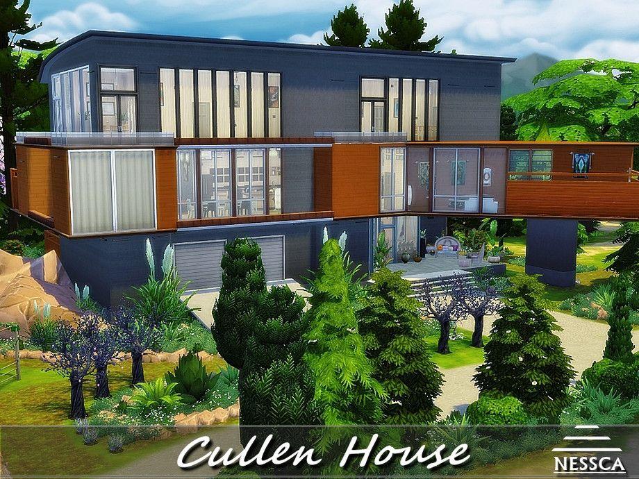 Nessca S Cullen House Twilight House Sims 4 Houses Cullen House Twilight