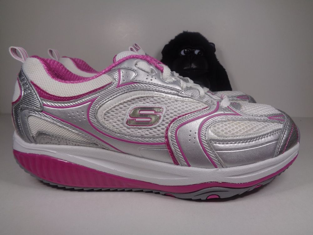 Womens Skechers Shape Ups pink while you walk shoes size 8