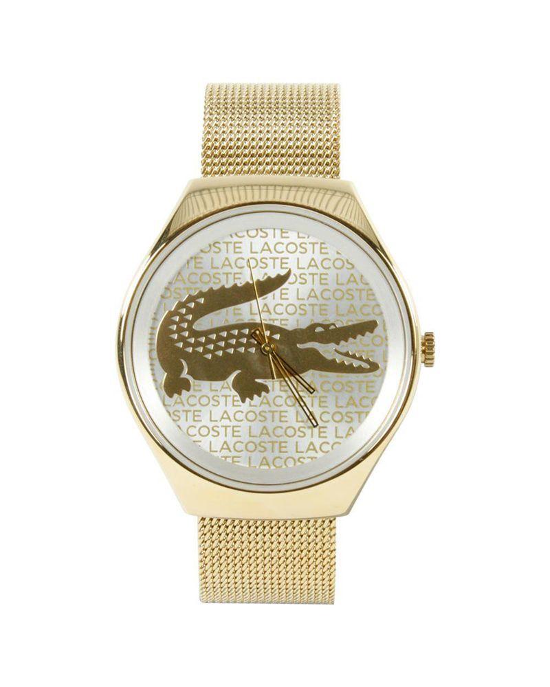 Reloj Valencia Lacoste para mujer  Caja de 40 mm. de diámetro de acero  inoxidable chapado en oro. Correa de acero inoxidable chapado en oro. 0a00dfdd19c3