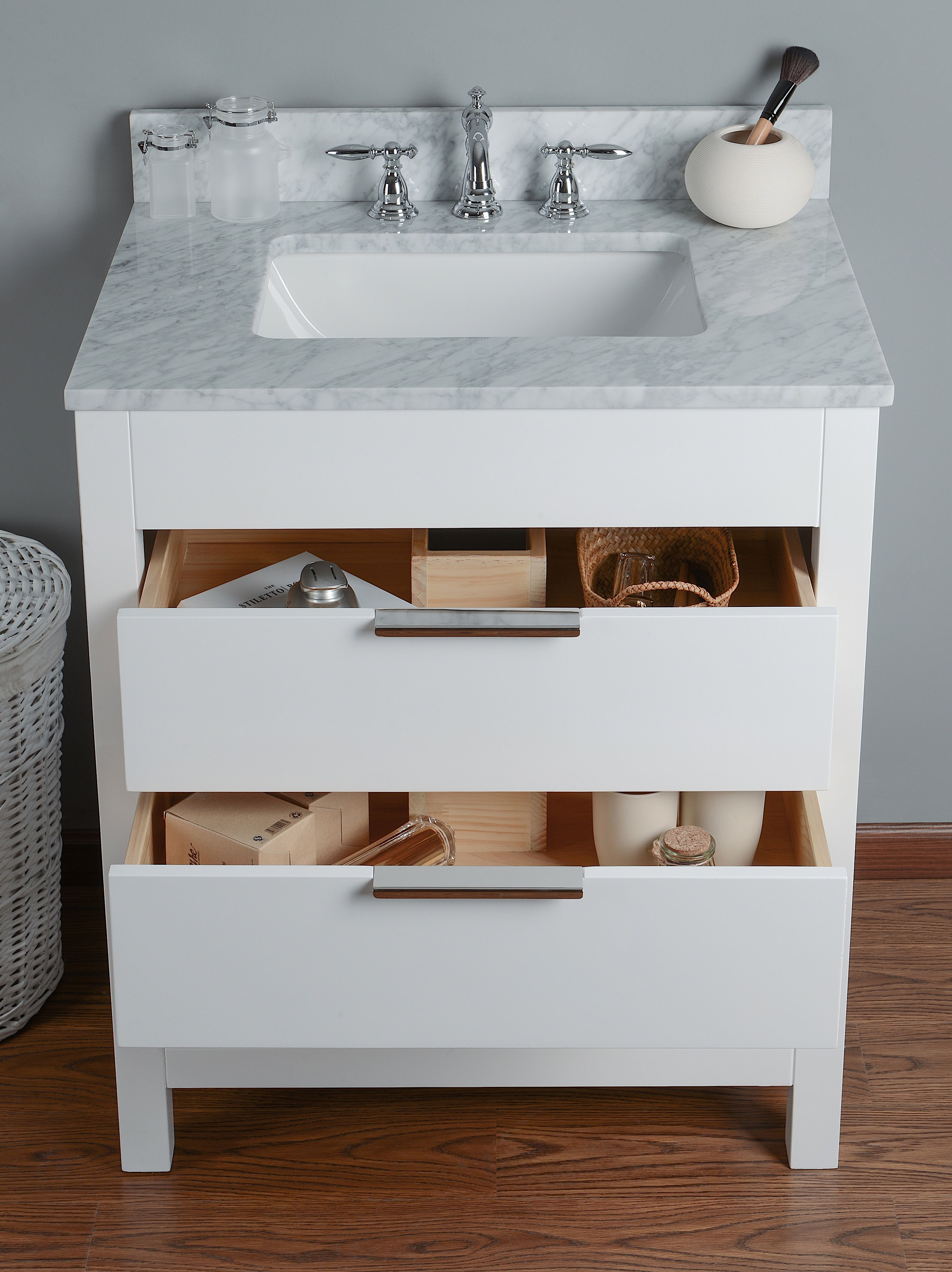 design source sink combo single inch bathrooms deep for integrated on shop innovative white project picturesque vanity bathroom intended interesting