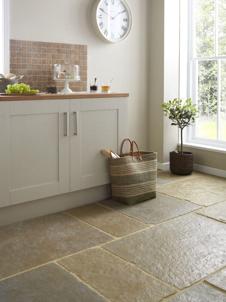 sample of tumbled umbrian limestone floor tiles slabs aged natural