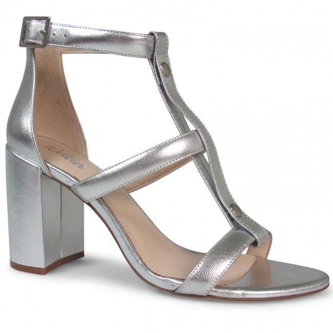 8697cff6bb96 Wittner Raleigh Heel Silver