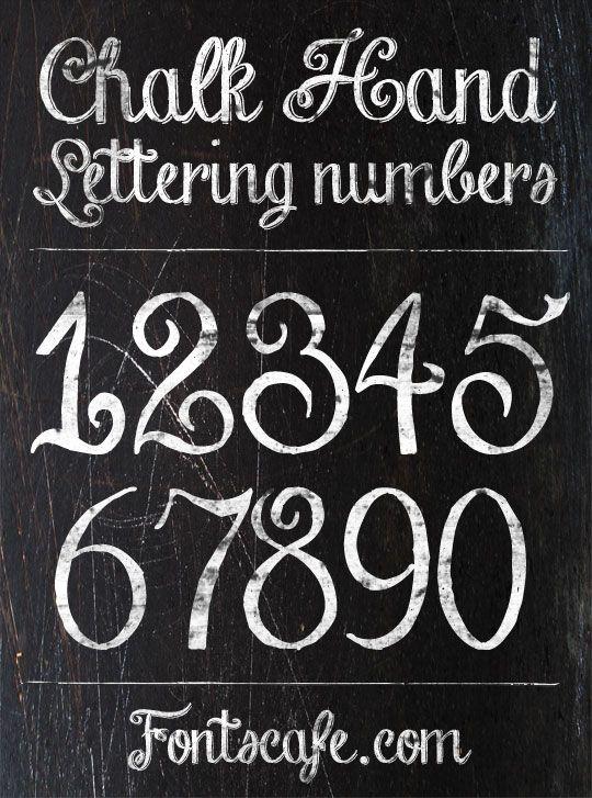 Chalk Hand Lettering Font Fonts Cafe Lettering Chalkboard Lettering Chalkboard Art